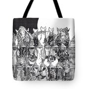 Two Dozen And One Cats Tote Bag