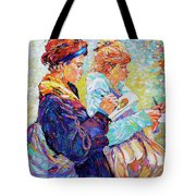 Two Drawing Ladies Tote Bag
