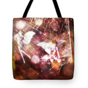 Two Fairies In The Web Tote Bag