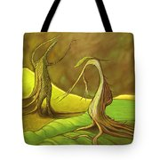 Two Fantasy Trees  Tote Bag