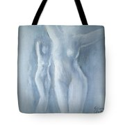 Two Female Nudes Tote Bag