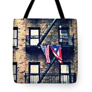 Two Flags In Washington Heights Tote Bag