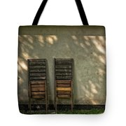 Two Folded Sun Chairs Tote Bag