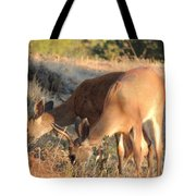 Two Forked Horns Tote Bag