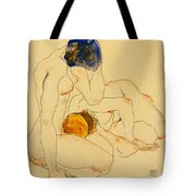 Two Friends Tote Bag by Egon Schiele