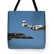 Two Generations Of Aircraft Tote Bag