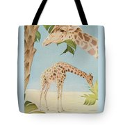 Two Giraffes Tote Bag