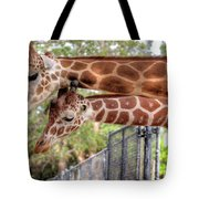 Two Giraffes Tote Bag