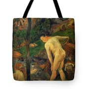 Two Girls Bathing 1887 Tote Bag