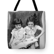 Two Girls Reading A Book, C.1920-30s Tote Bag