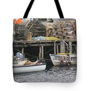 two girls swimming in the Atlantic Ocean Tote Bag