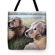 Two Golden Retriever Tote Bag