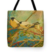 Two Goldfinch Found Tote Bag
