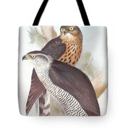 Two Goshawks Tote Bag