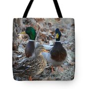 Two Guys And A Gal Tote Bag