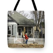 Two Handed Dog Walk Tote Bag