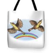 Two Happy Birds Tote Bag