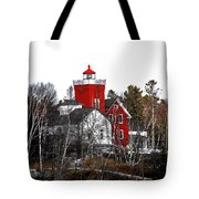 Two Harbors Lighthouse Close-up Tote Bag