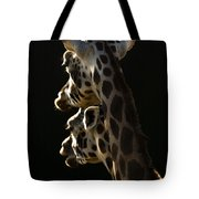 Two Headed Giraffe Tote Bag
