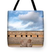 Two Headed Statue And Governors Palace Tote Bag