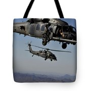 Two Hh-60 Pave Hawk Helicopters Prepare Tote Bag