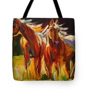 Two Horse Town Tote Bag