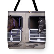 Two Horses Are Ready To Travel Tote Bag
