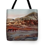 Two Horses In The Arroyo Tote Bag
