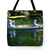 Two In A Canoe Tote Bag