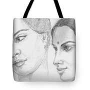 Two Indian Women Tote Bag