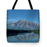 Two Jack Lake In The Morning Tote Bag