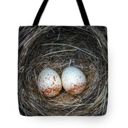 Two Junco Eggs In The Nest Tote Bag