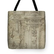 Two Kings And A Woman Leaving An Elaborate Palace Tote Bag