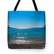 Two Lighthouse And The Wonderful Beach Tote Bag