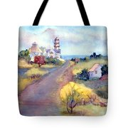 Two Lights In Cape Elizabeth Maine Tote Bag