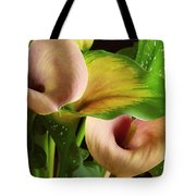 Two Lily With Leaf Tote Bag