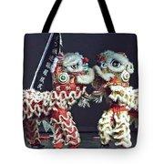 Two Lions Kung Fu Club Tote Bag