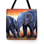 Two Little Elephants Tote Bag