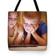 Two Little Kids Tote Bag