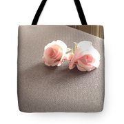 Two Little Pink Roses Tote Bag