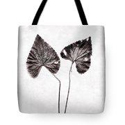 Two Little Violet Leaves Tote Bag