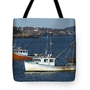 Two Lobster Boats Tote Bag