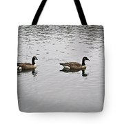 Two Lovely Canadian Geese Tote Bag