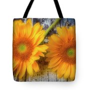 Two Lovely Sunflowers Tote Bag