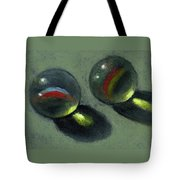 Two Marbles In Pastel Tote Bag