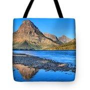 Two Medicine Lake Sunrise Panorama Tote Bag