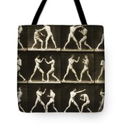 Two Men Boxing Tote Bag