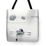 Two Men In A Dinghy Tote Bag