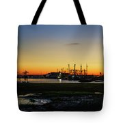 Two Mile Landing At Sunrise - Wildwood Crest New Jersey Tote Bag