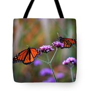 Two Monarchs Sharing 2011 Tote Bag